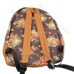 Garden Floral canvas shoulder bag B..