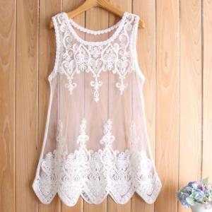 Lace flower blouse GG716CG